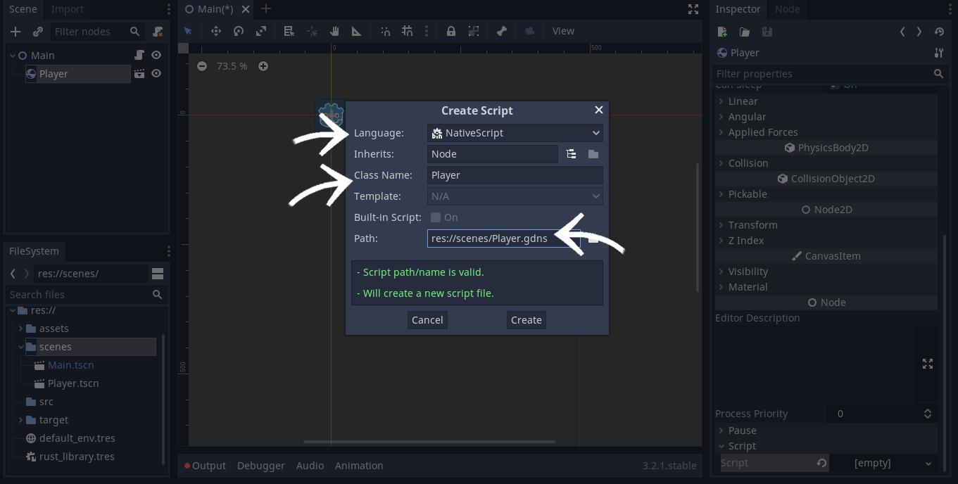 CrabbyBird0 - dodawanie NativeScriptu 2
